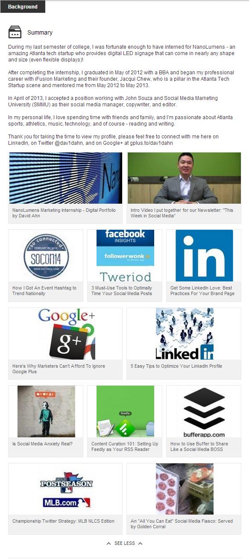 David Ahn LinkedIn Background Summary