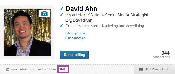 David Ahn LinkedIn Profile URL