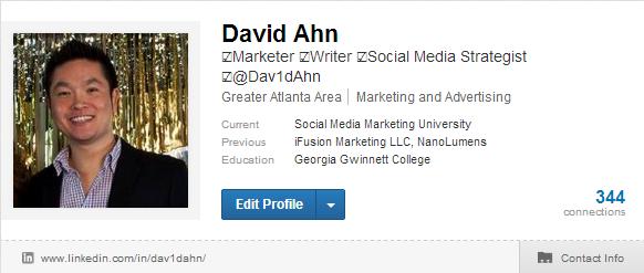 David Ahn LinkedIn