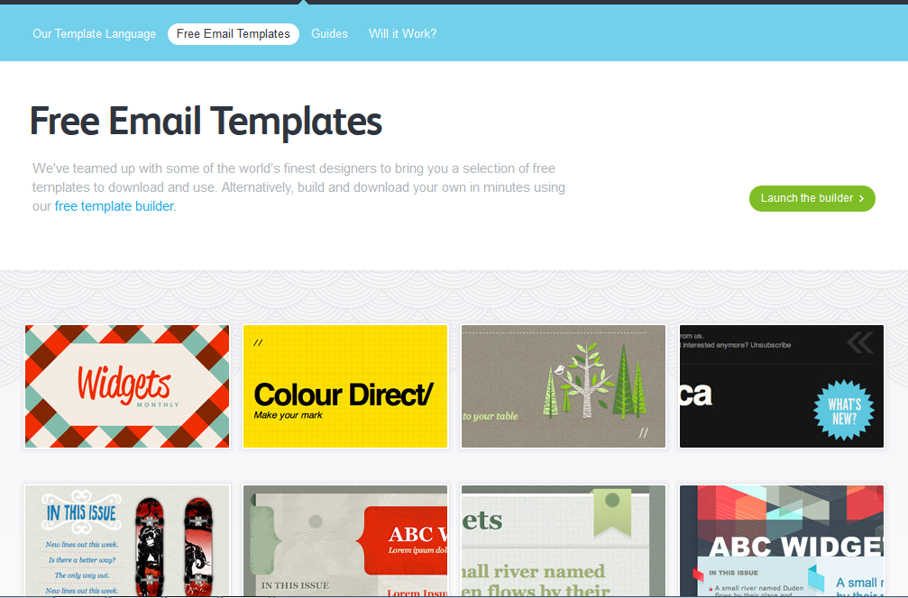5 best free email marketing templates social media for Www campaignmonitor com templates