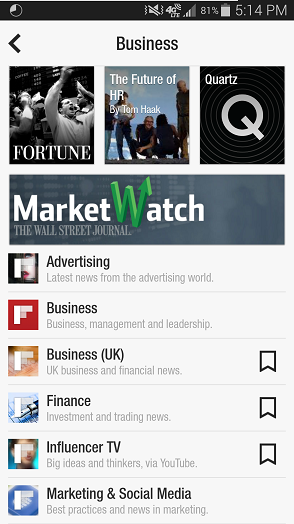 Flipboard Content Curation